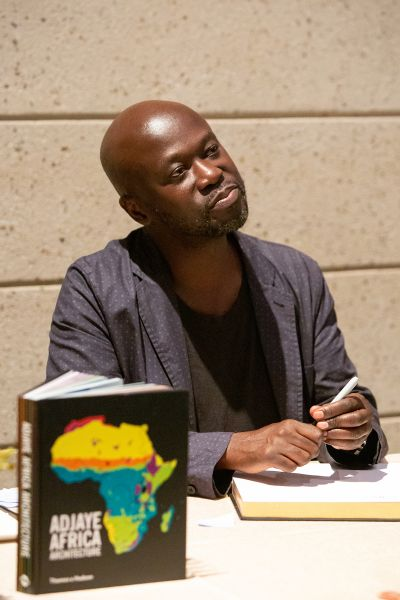 David Adjaye signing books at reception