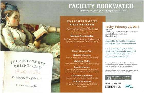 Enlightenment Orientalism Bookwatch event flyer