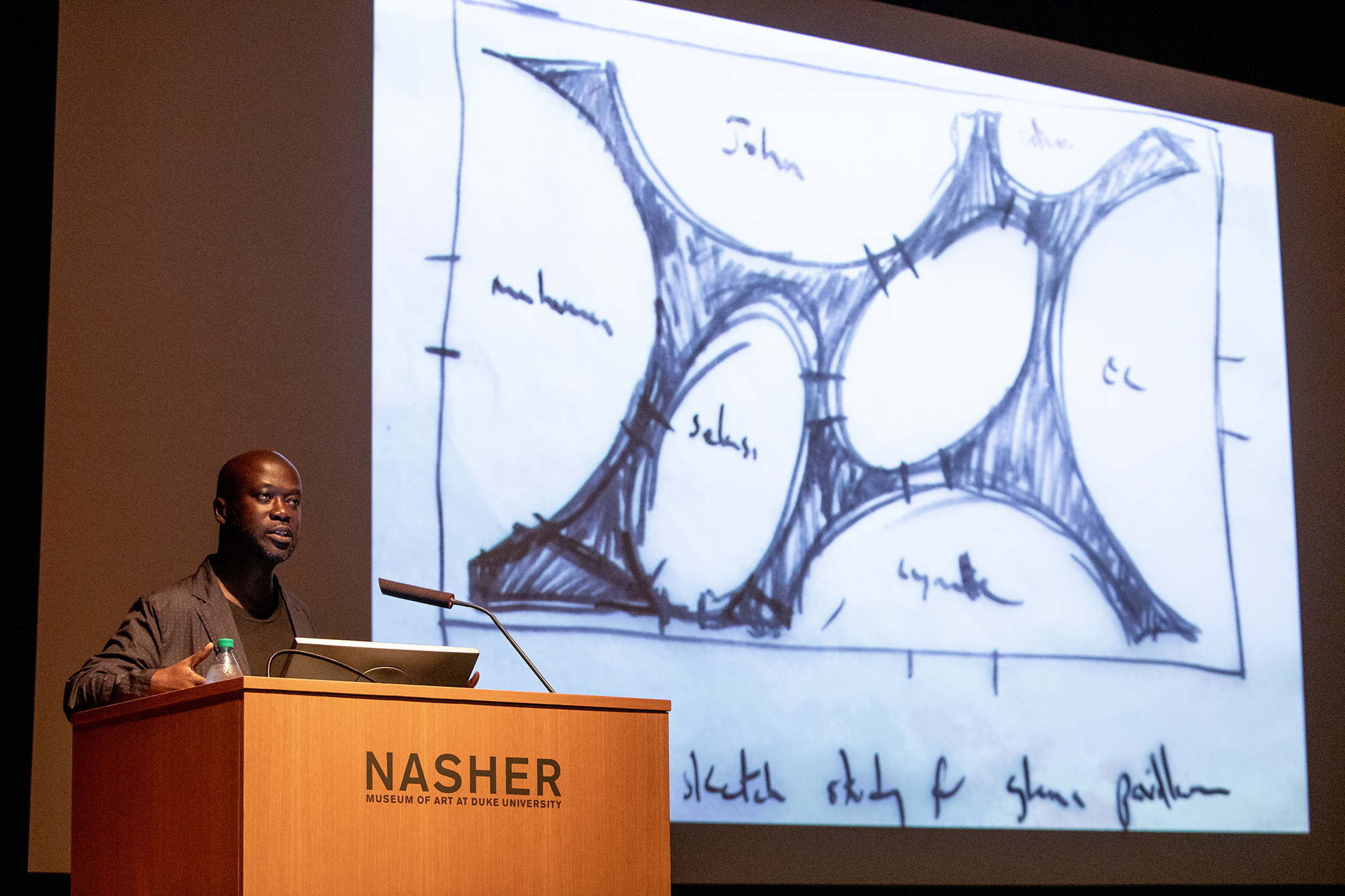Adjaye speaks about Ghanaian pavilion