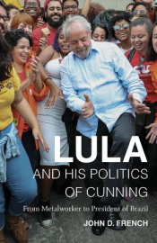 Book cover image with Lula in blue shirt & grey pants dancing in front of crowd of supporters