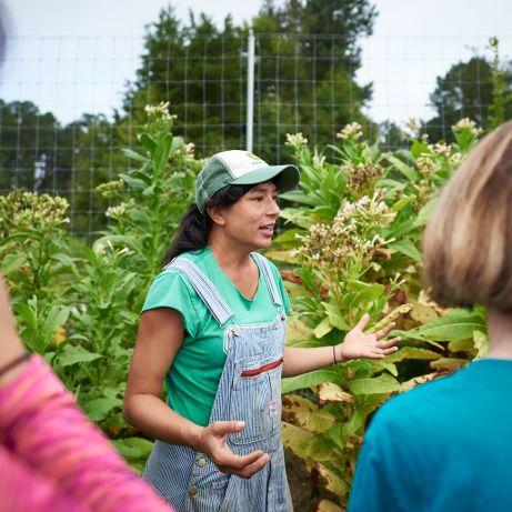 "Saskia Cornes teaching her Duke Immerse Course ""Imagining the Future of Food."" Photo by Dean Rhoades, 2018."