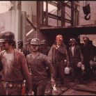 FIRST SHIFT OF MINERS AT THE VIRGINIA-POCAHONTAS COAL COMPANY
