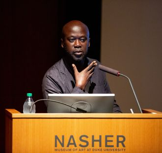 David Adjaye speaking at the Nasher Museum of Art