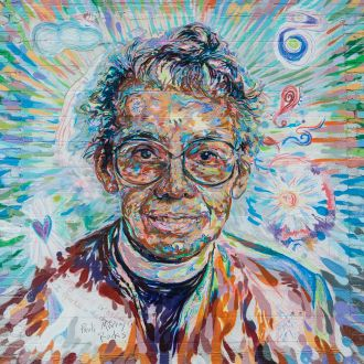 Mural of Pauli Murray