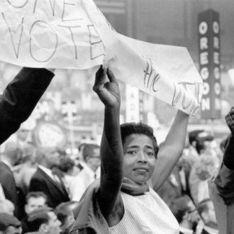 Victoria Jackson Gray Adams at the 1964 Democratic convention