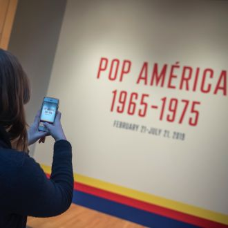 Pop América exhibit opening