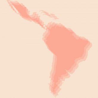 Blurred image of Latin America