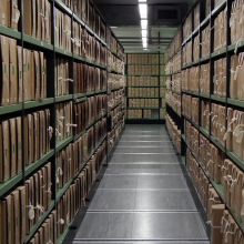 Archives stacks at the National Archives
