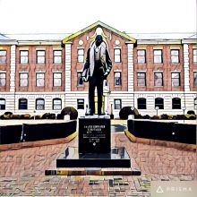NCCU campus with comics style image filter