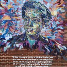 pauli murray mural in durham nc