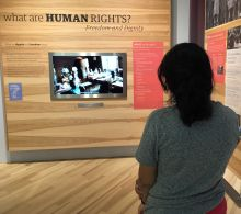 Students in Human Rights exhibit