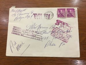 image of mailed letter in envelope