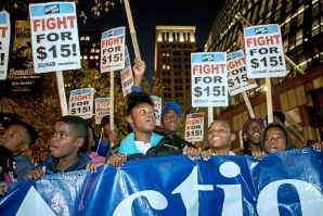 Fight for $15 Protestors, Chicago, 2015.