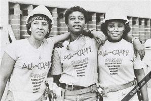 Tradeswomen during the feminist movement. Photo by Bettye Lane