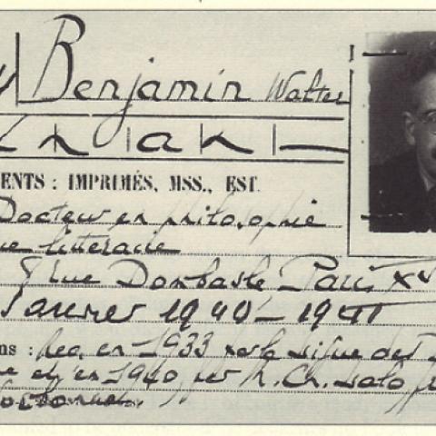 Film Screening and Reception: Judith Wechsler, 'The Passages of Walter Benjamin'