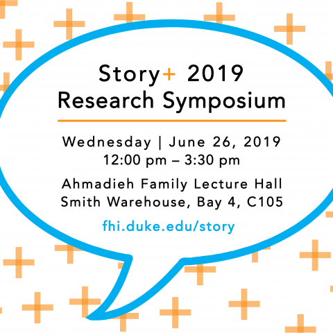Story+ Research Symposium flyer