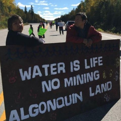 water is life - no mining Algonquin land