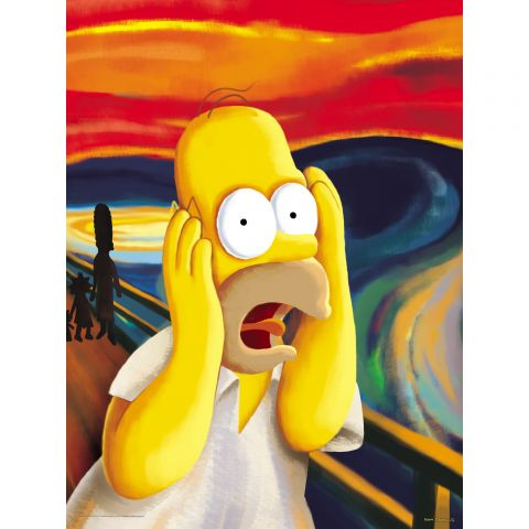 "Homer Simpson, ""The Scream"""