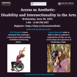 Access as Aesthetic: Disability and Intersectionality in the Arts