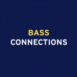 Bass Connections word mark on dark blue background