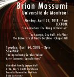 Brian Massumi Flyer