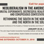 e-flyer for Neoliberalism in the Americas conference call for papers