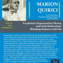 Psychiatric Degeneration Theory and Irish Modernism: Blending Sickness with Sin