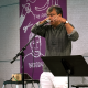 Amit Chaudhuri performing at the Rubenstein Arts Center on Friday, September 27, 2019.