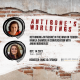 Antigone's Worldings graphic with event information and small headshots of speakers