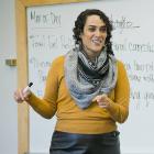 Photo of Christine Folch teaching